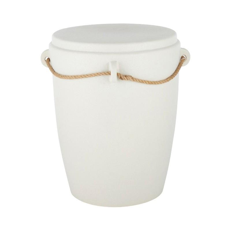 Nikos Ceramic Accent Stool / Side Table