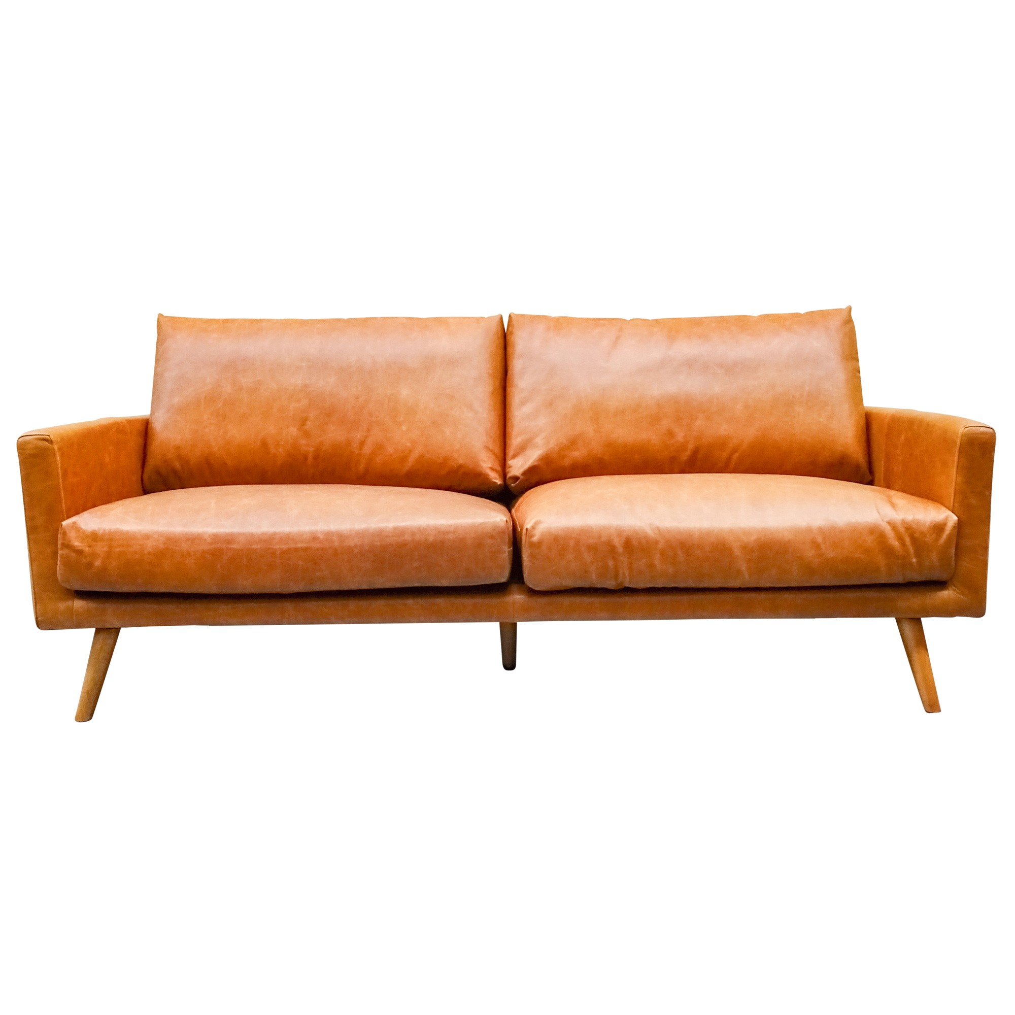 Madrid Leather Sofa, 3 Seater
