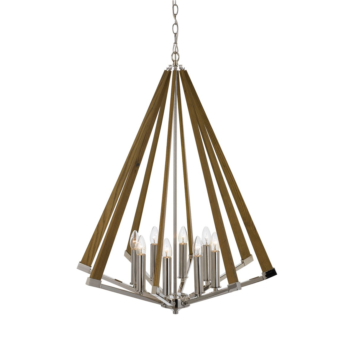 Graf Metal & Ashwood Pendant Light, Large