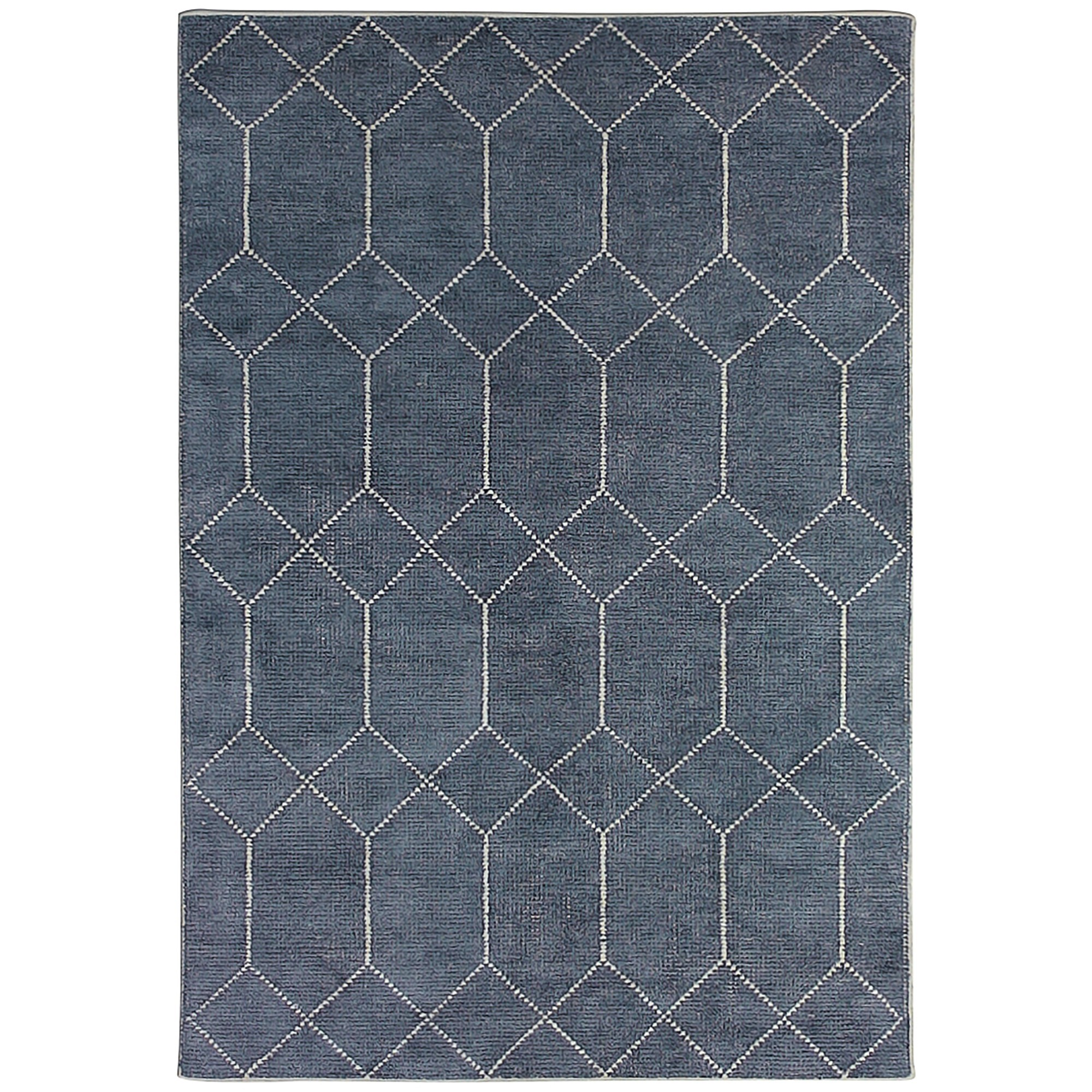 Geometrics Hand Knotted Wool Rug, 350x450cm, Storm