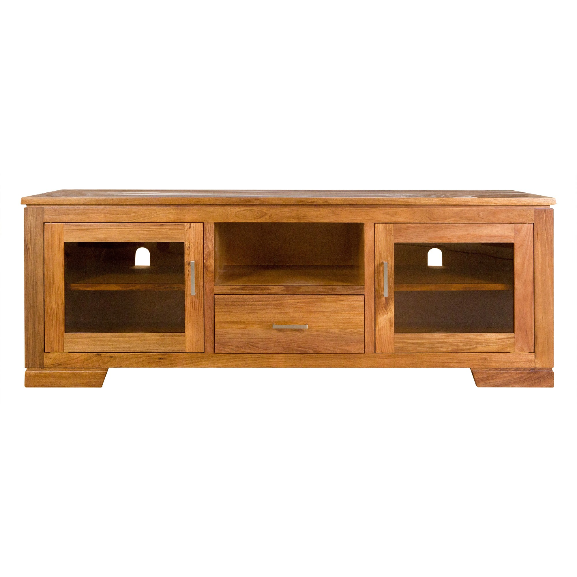 Harlington-II Blackwood Timber 2 Door 1 Drawer TV Unit, 160cm