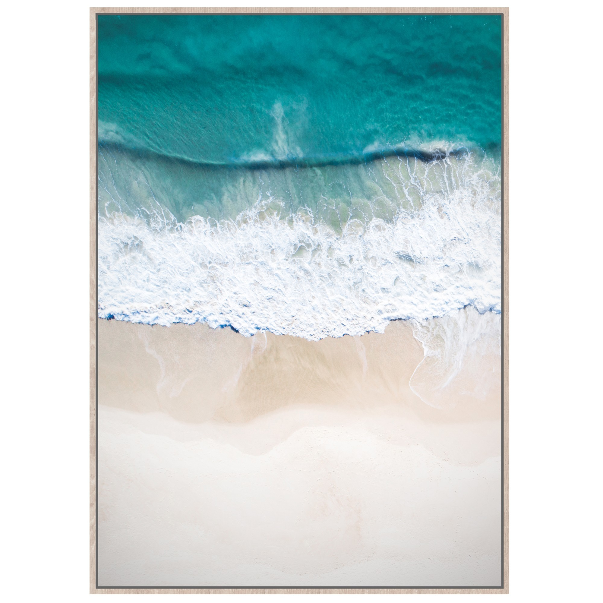 Calm Coastal Shores Framed Canvas Wall Art Print, 120cm