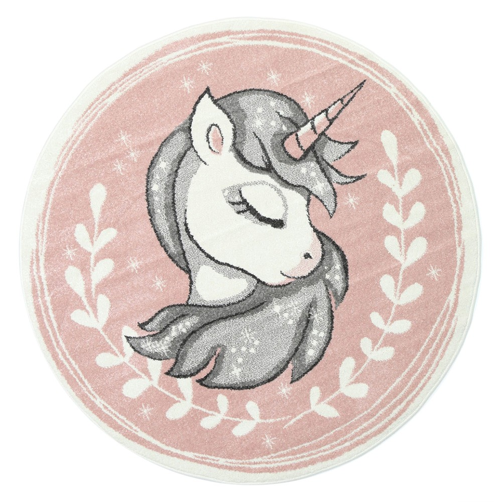 Nova Sleeping Unicorn Round Kids Rug, 133cm