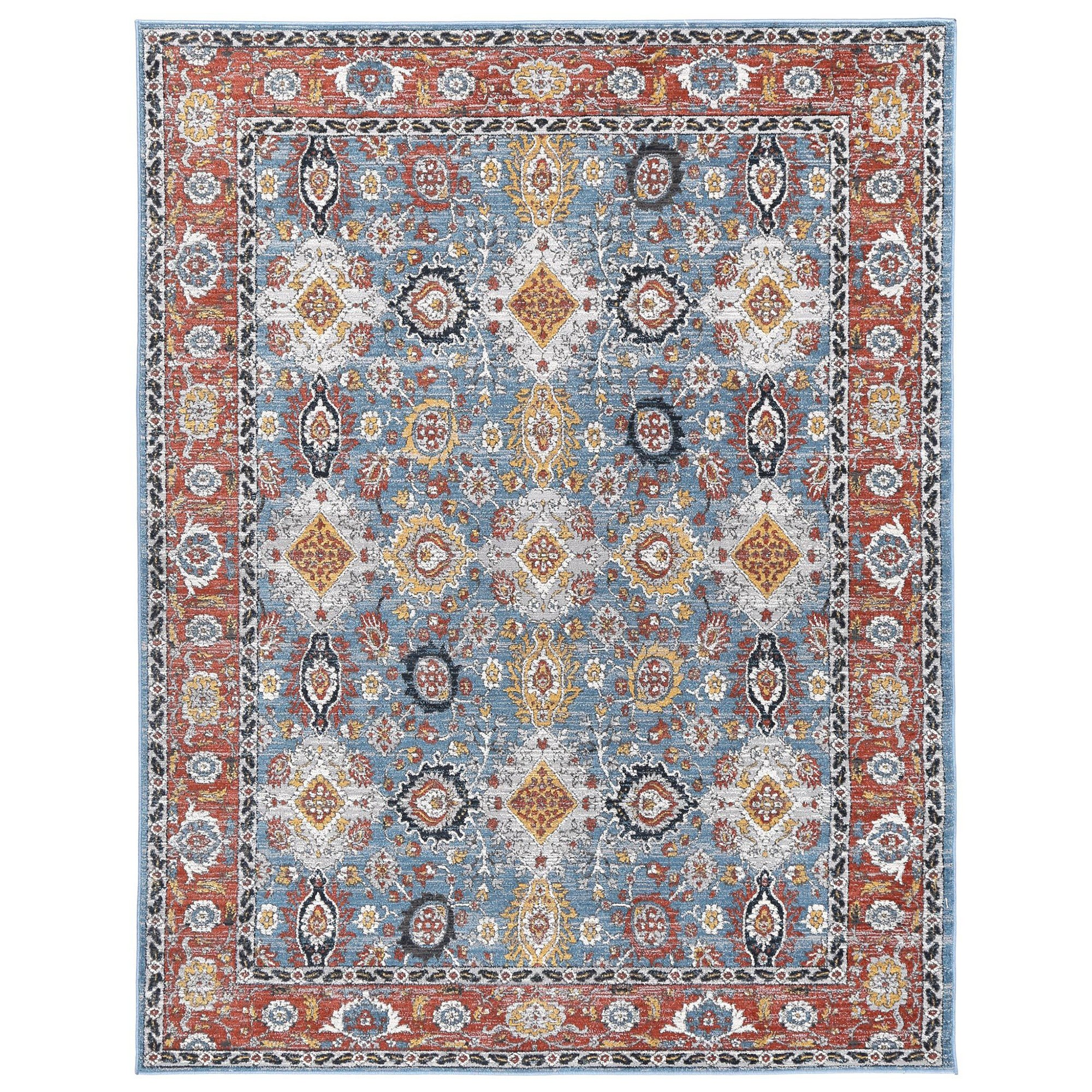 Havana No.11 Transitional Oriental Rug, 380x280cm, Blue / Rust