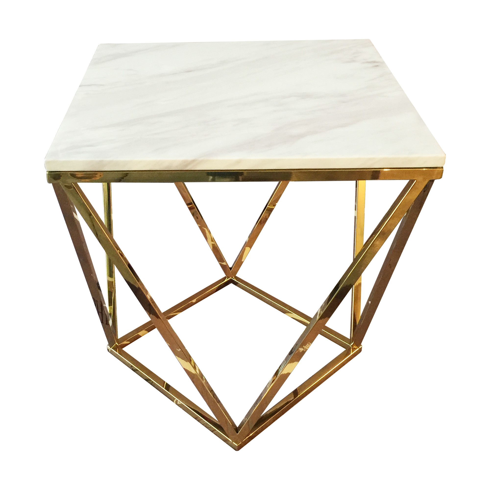 Philip Marble Topped Metal Square Coffee Table, 91cm