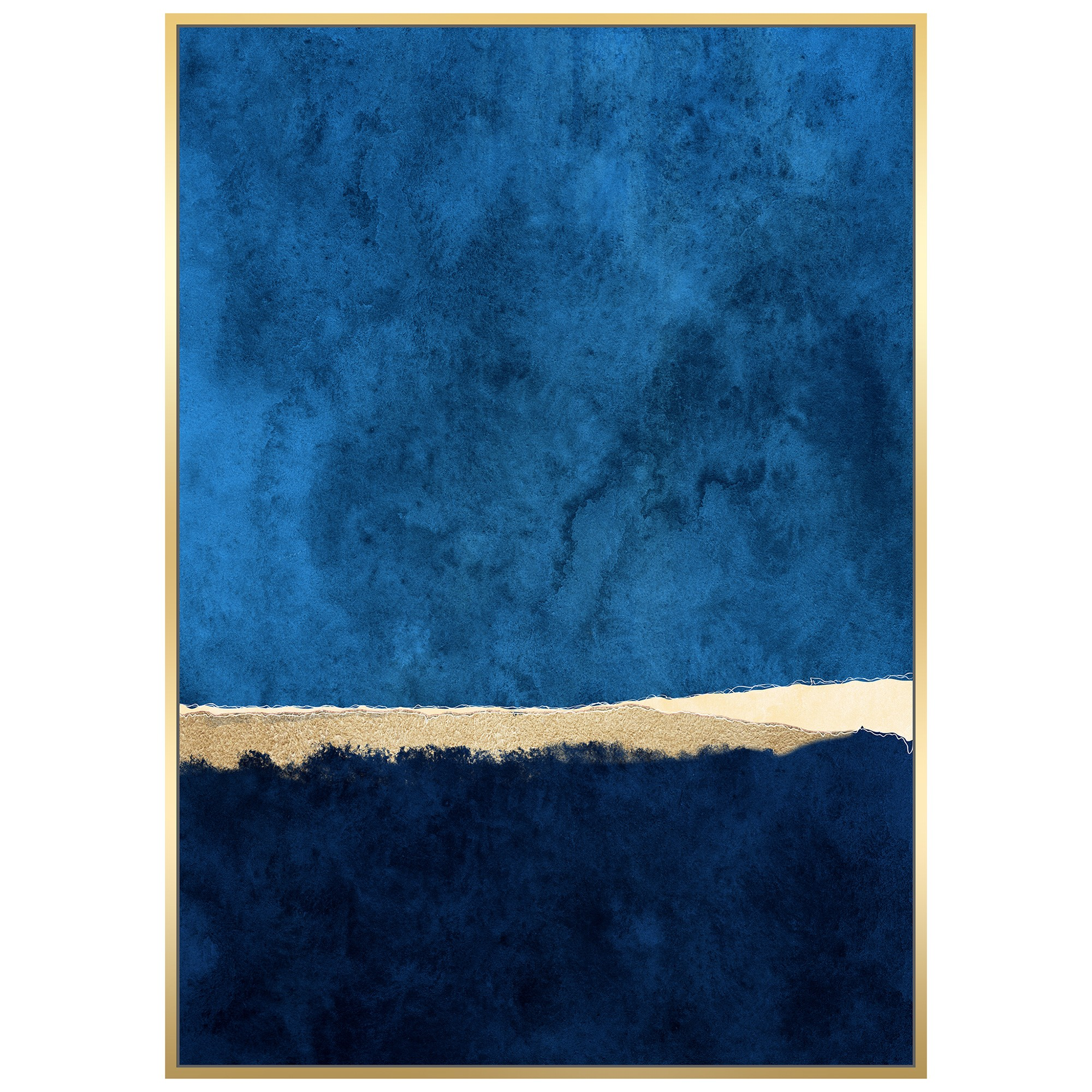 Deep Water Framed Abstract Canvas Wall Art, 140cm