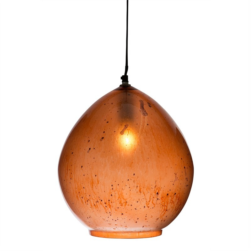 Nottinham Teardrop Glass Pendant Light - Copper
