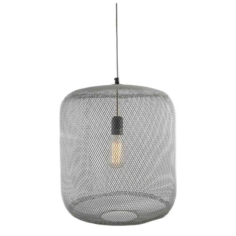 Mingus Iron and Brass Mesh Pendant Light - Medium