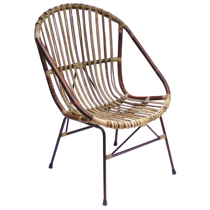 Buton Disdressed Rattan Armchair - Natural