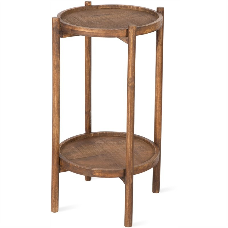 Candence Solid Timber 2 Tier Round Side Table
