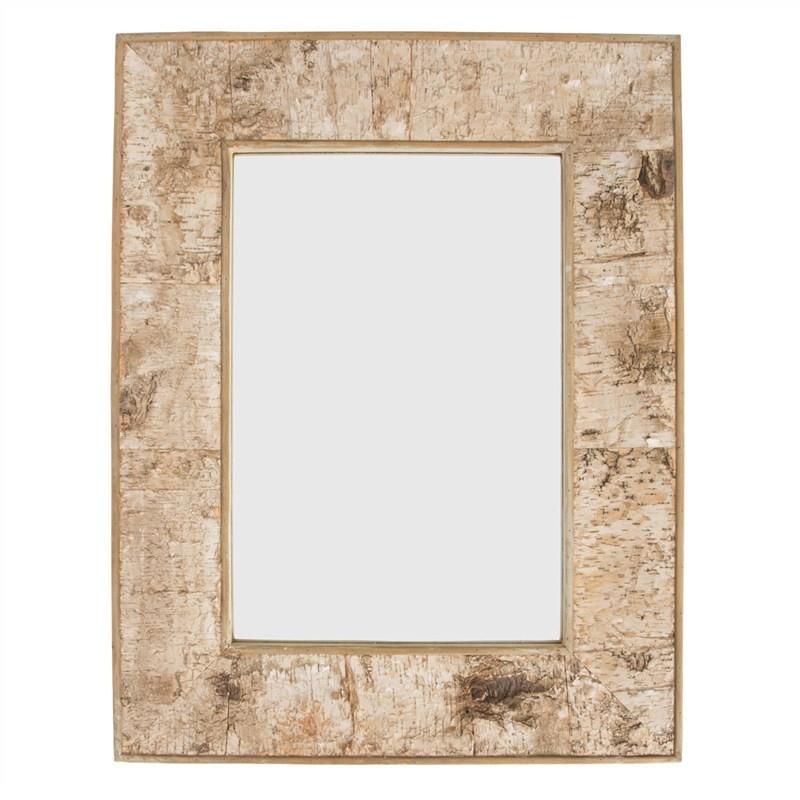 Burford Birch Bark Frame Rectangular Wall Mirror, 90cm