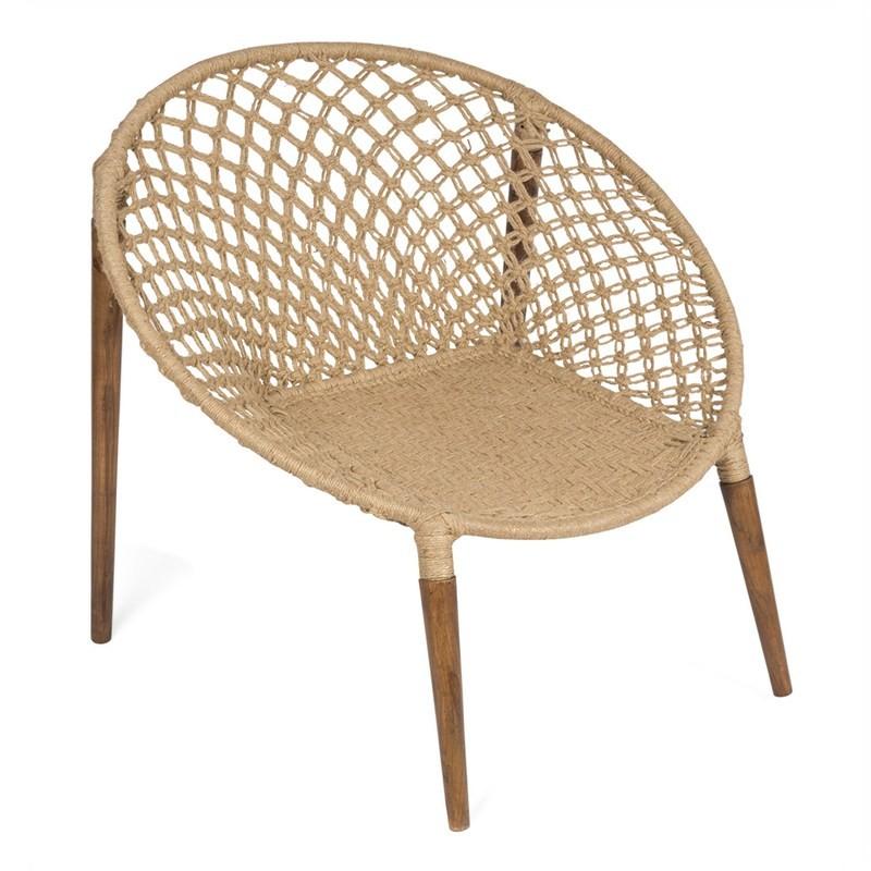 Espirit Woven Jute Occasional Ring Chair