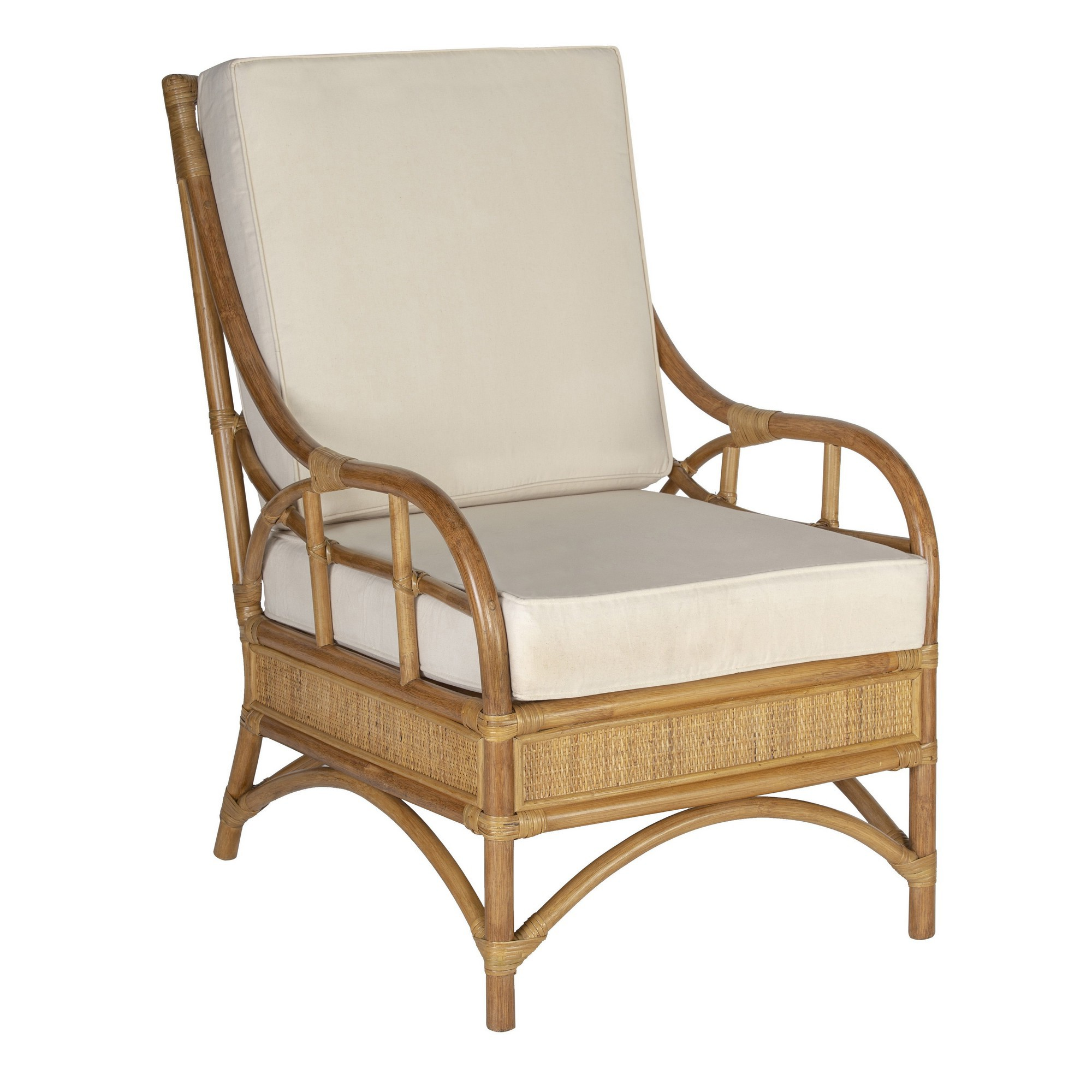 Hampton Rattan Armchair with Cushion