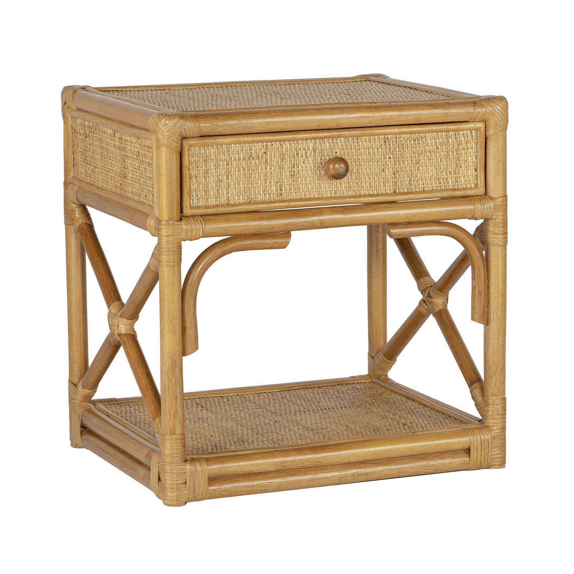 Hampton Rattan Side Table