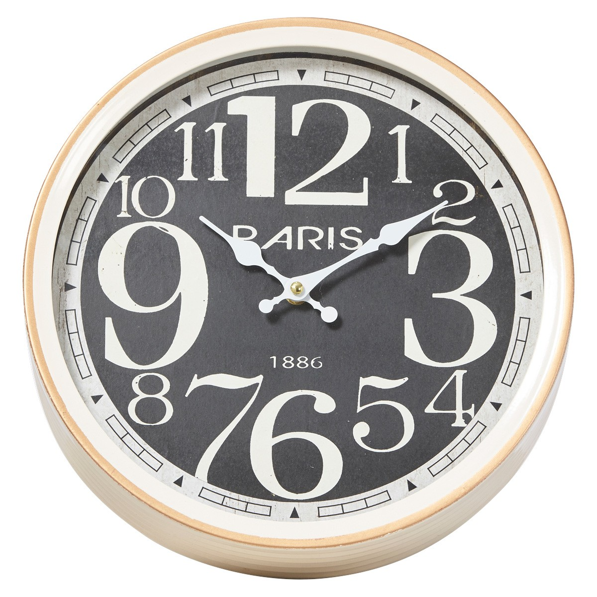 Universal Paris Metal Round Wall Clock, 30cm