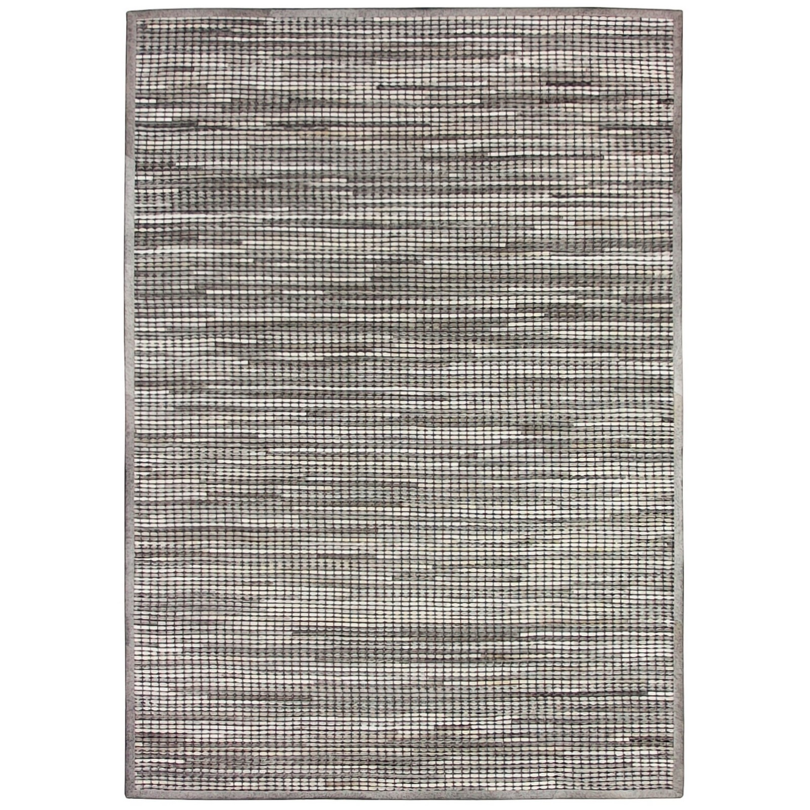 Chase Handwoven Hide & Leather Rug, 200x300cm, Grey