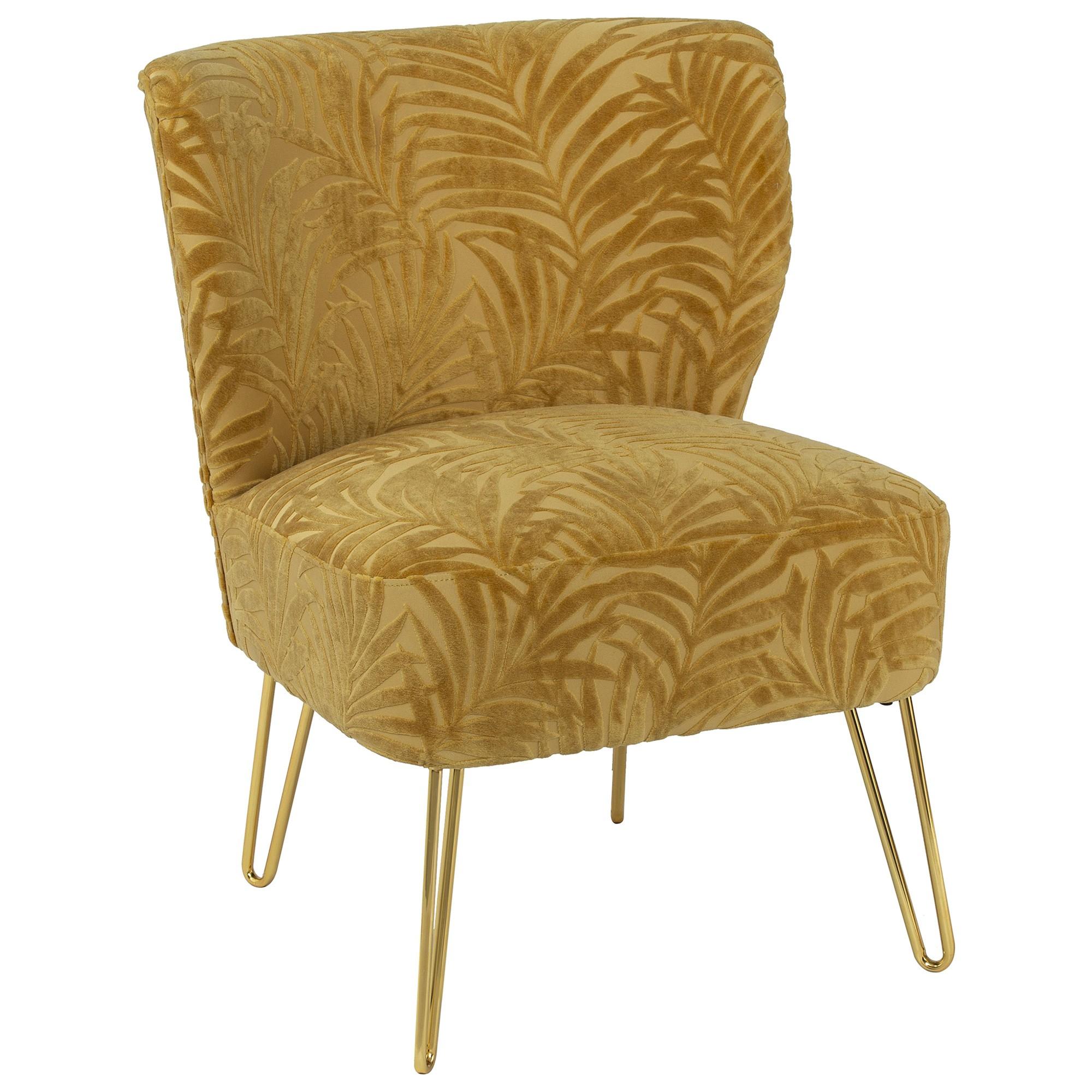 Akello Handmade Fabric Occasional Chair, Mustard