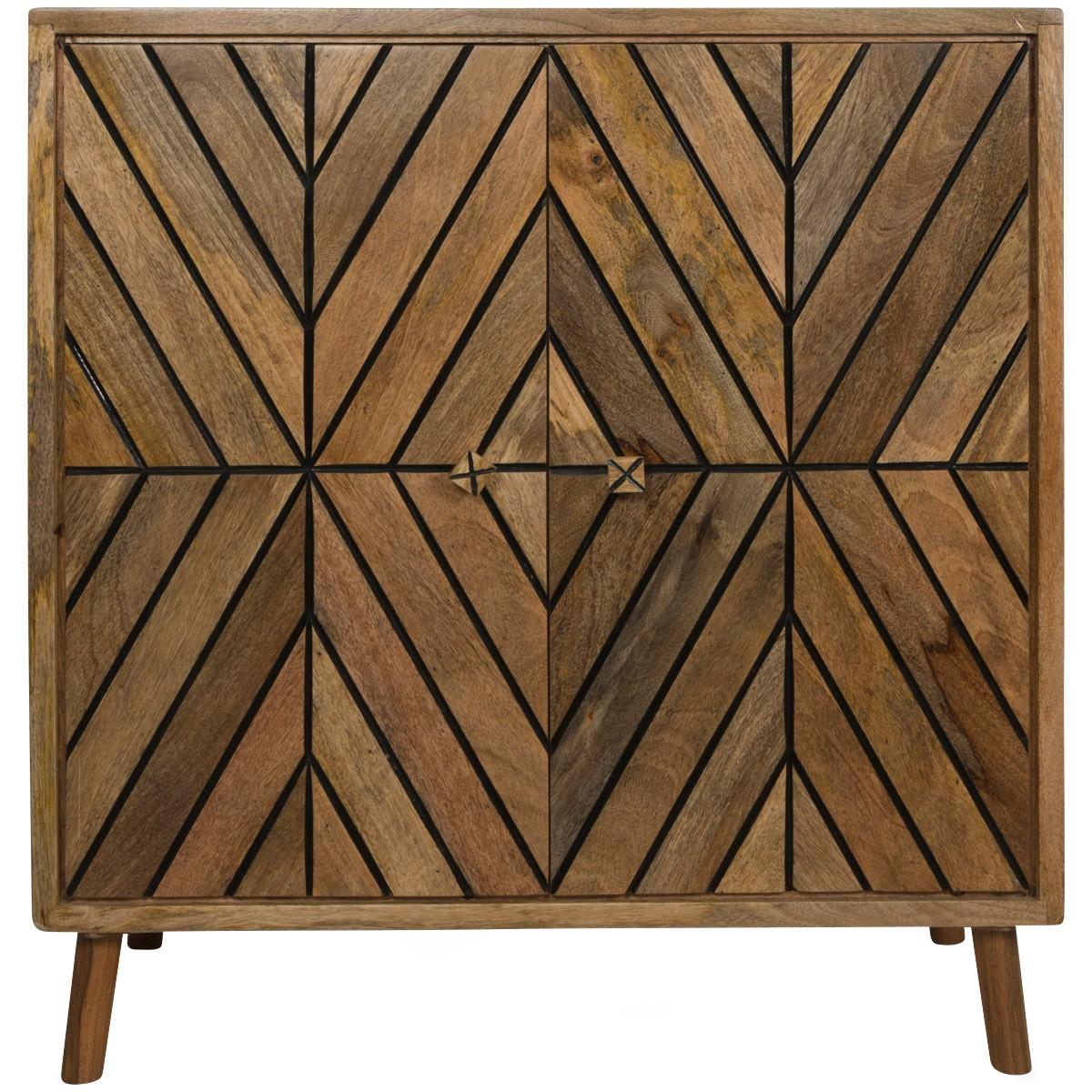 Dora Mango Wood 2 Door Accent Cabinet