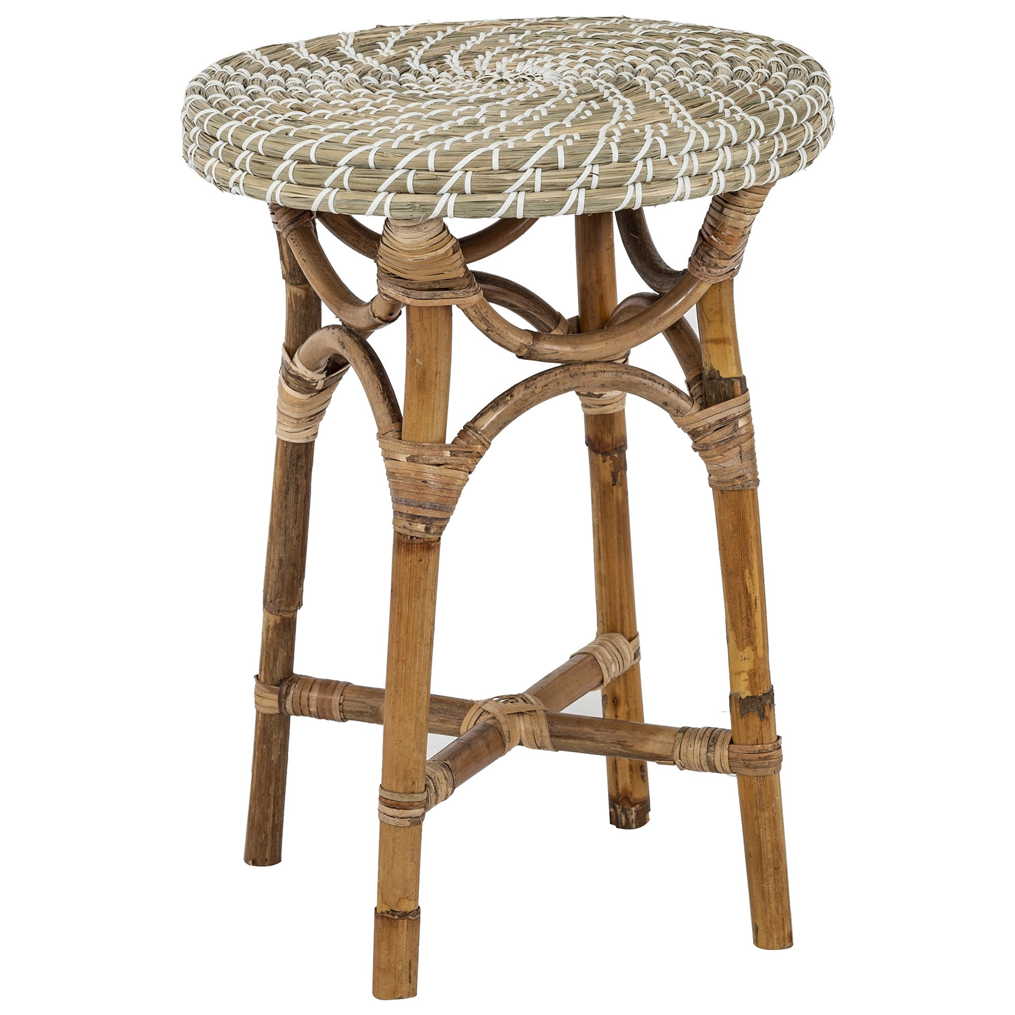 Kaysa Seagrass & Rattan Side Table