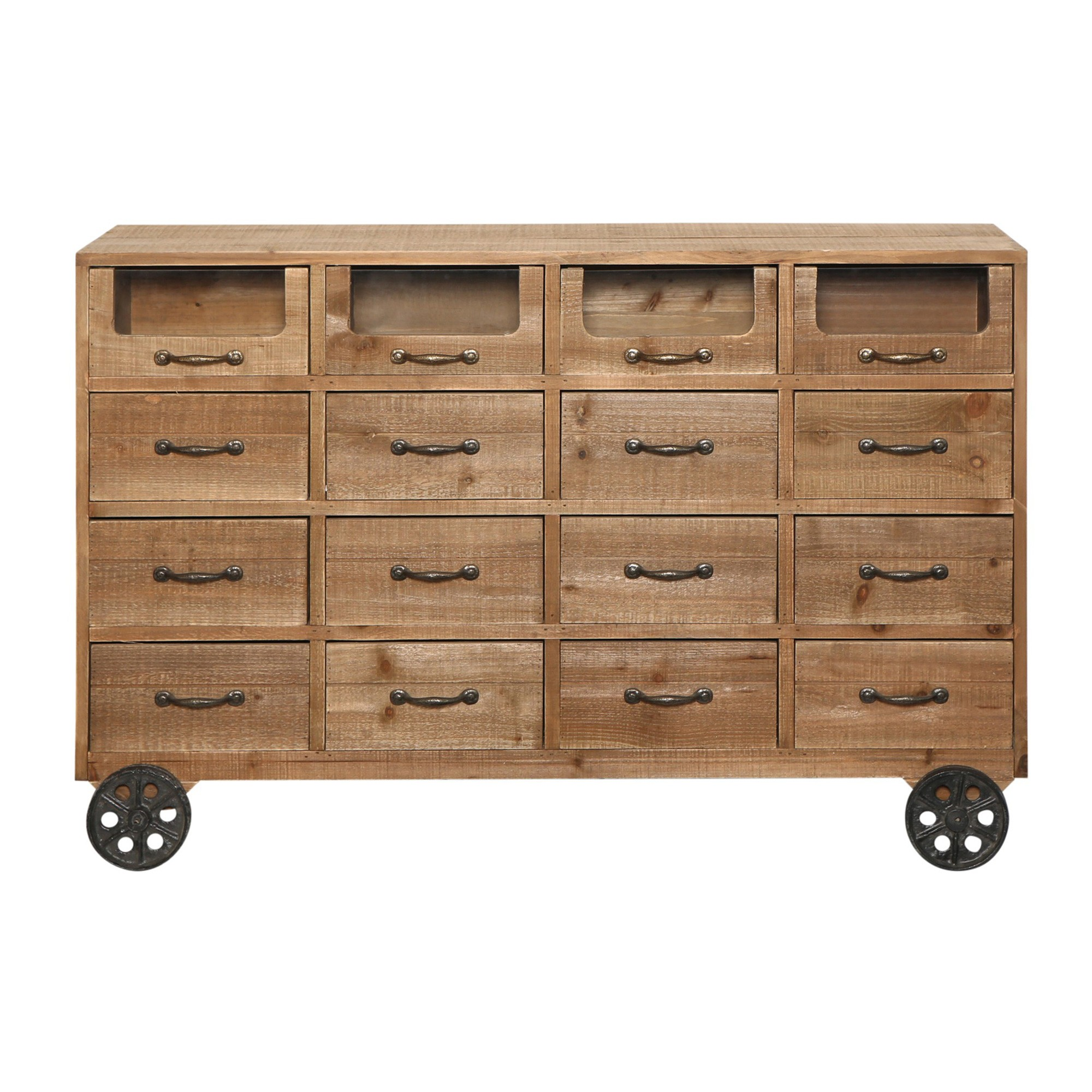 Hermione Fir Timber 16 Drawer Chest