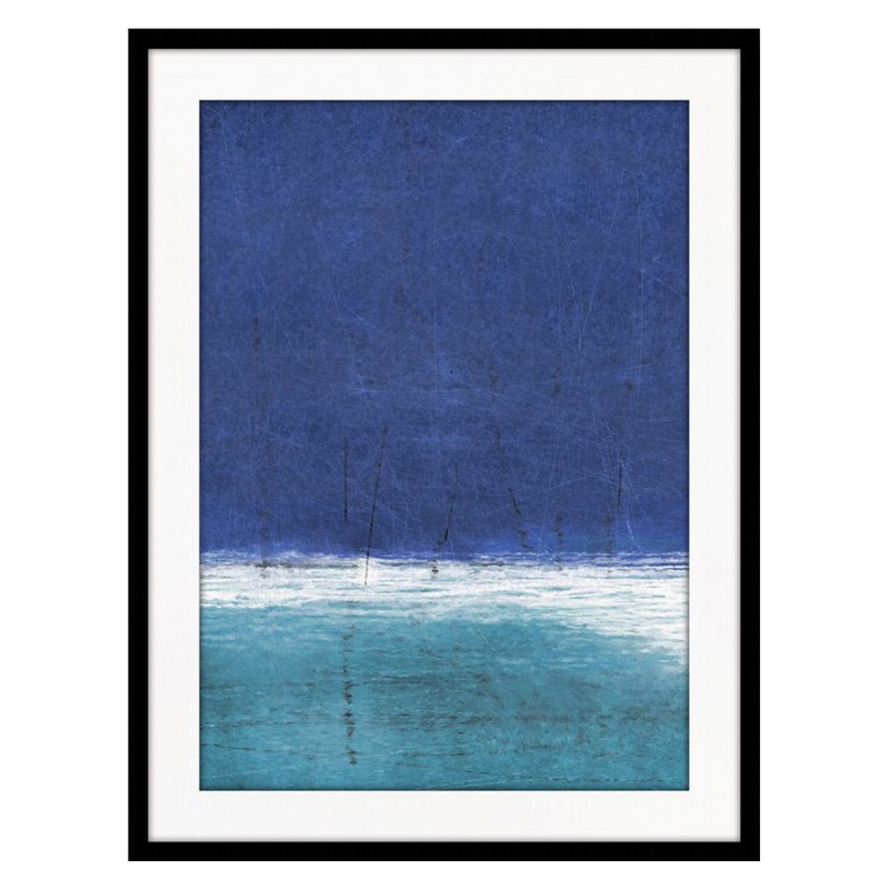 Blue Ocean Framed Wall Art Print, 83cm