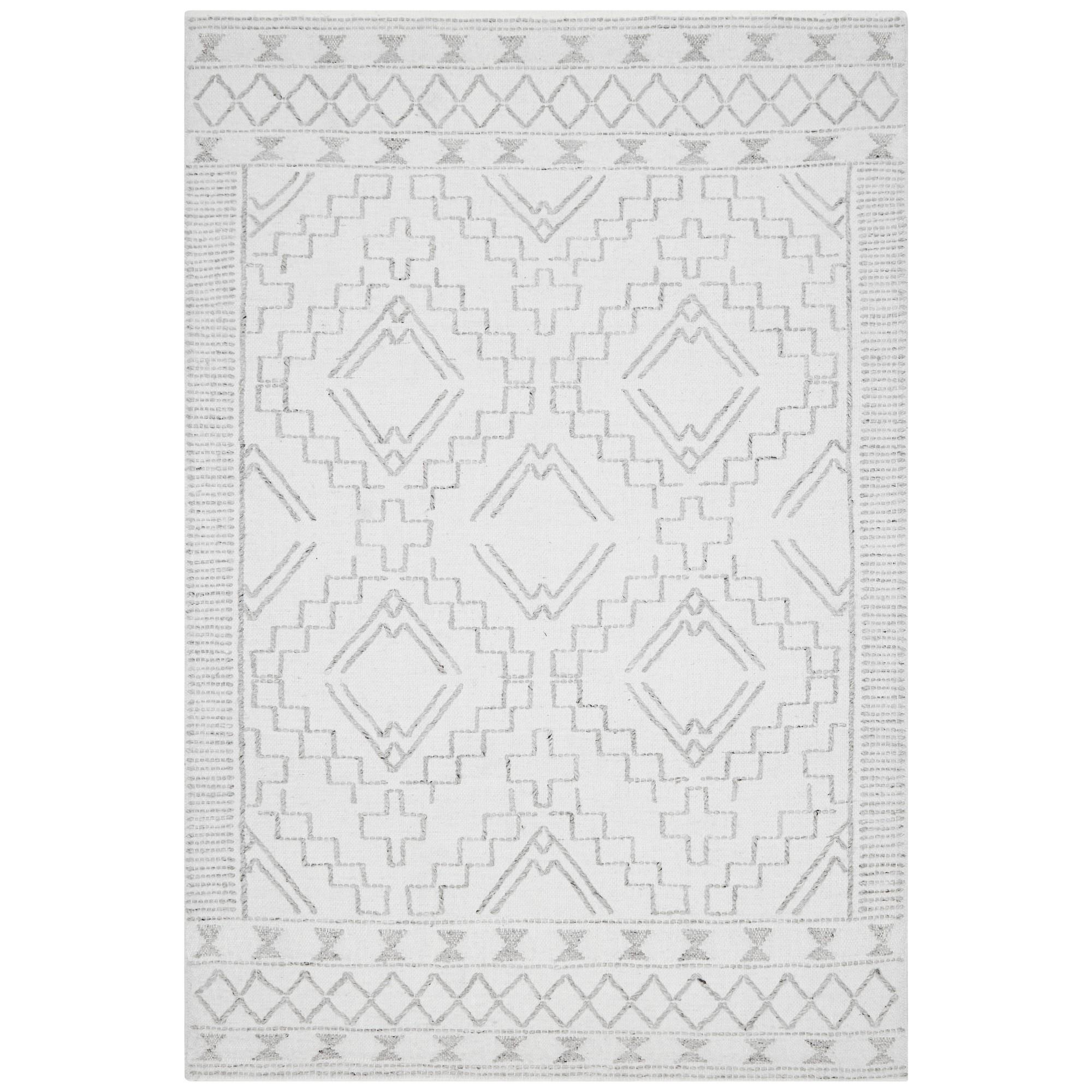 Hudson Blaze Wool Rug, 190x280cm, Ivory