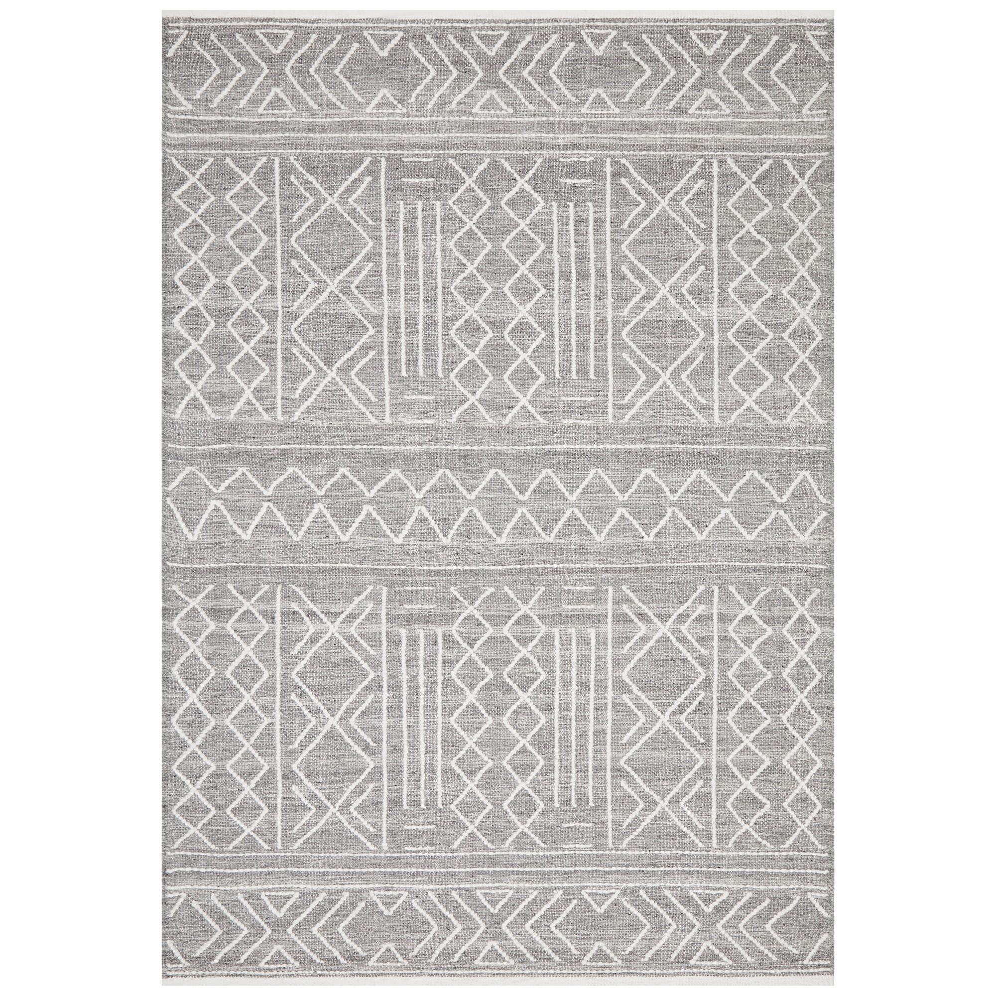 Hudson Ozzy Wool Rug, 190x280cm, Grey