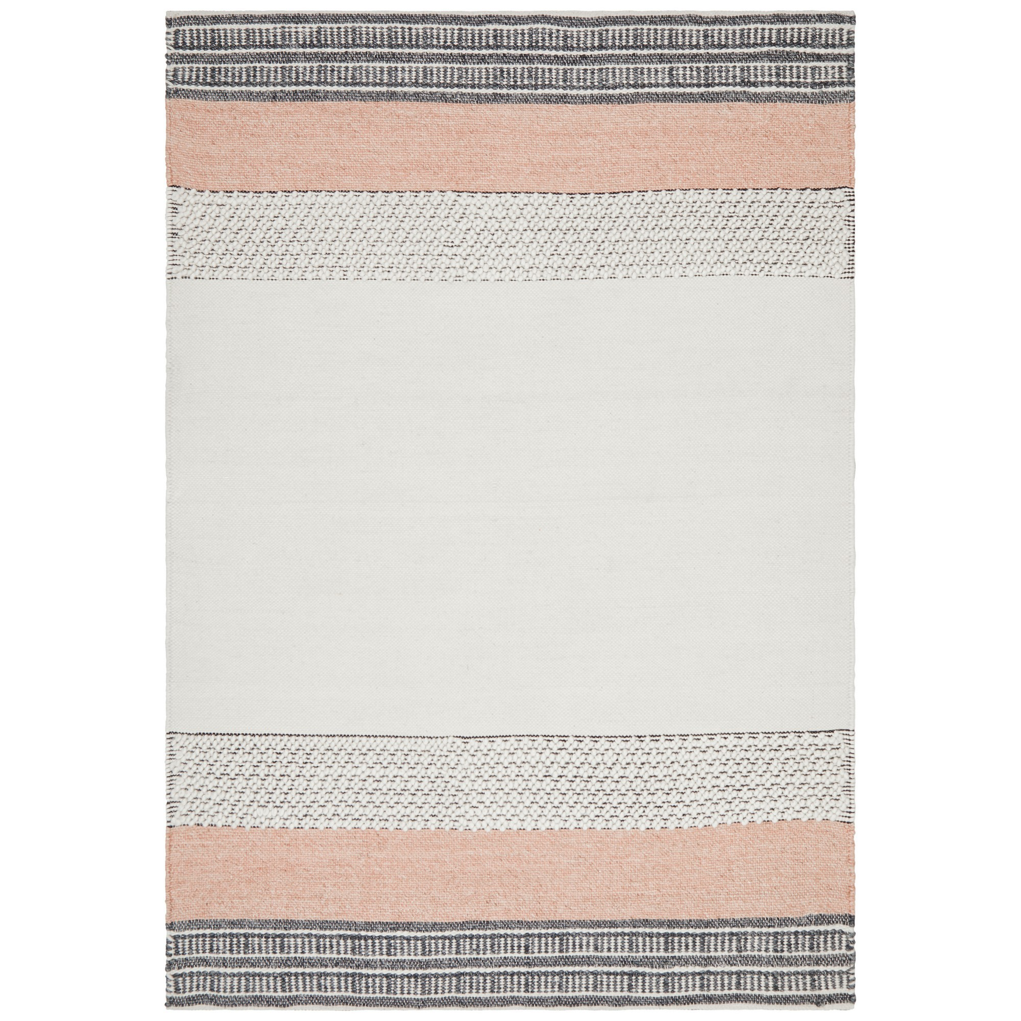 Hudson Rosalie Wool & Cotton Rug, 190x280cm, Peach