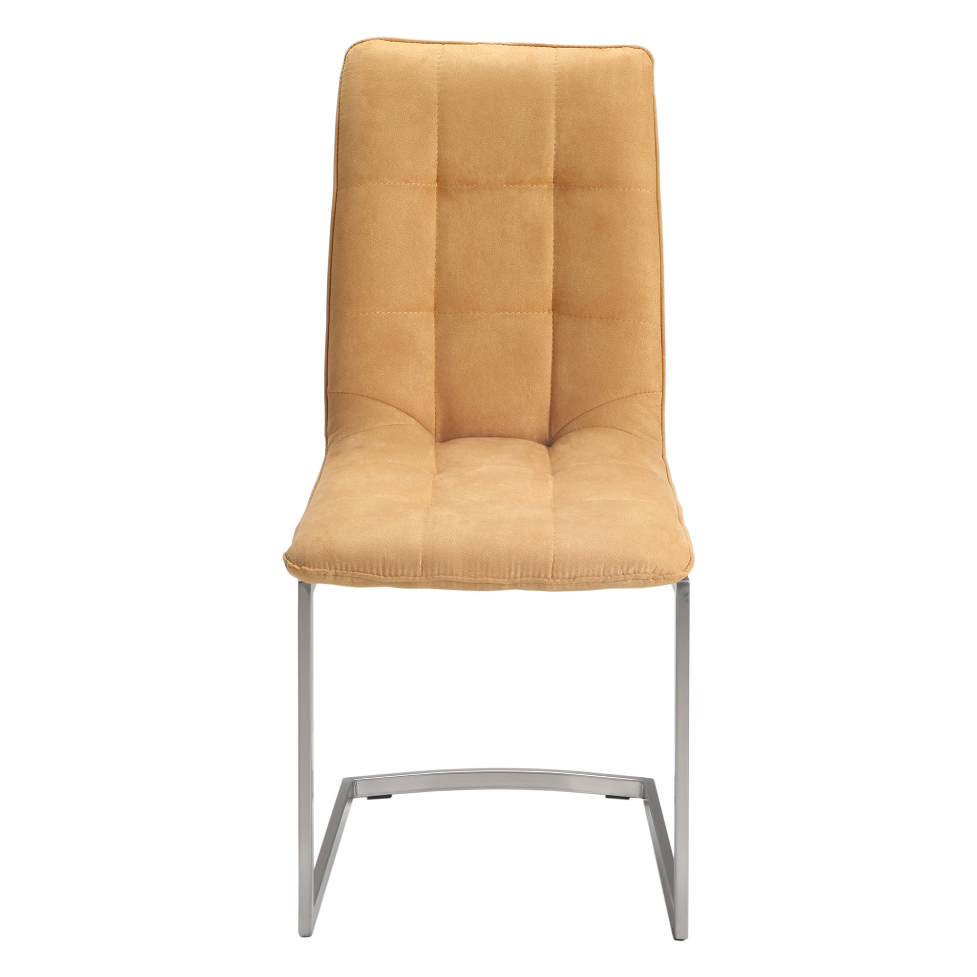 Hudson Ultrasuede Fabric Dining Chair, Ocher