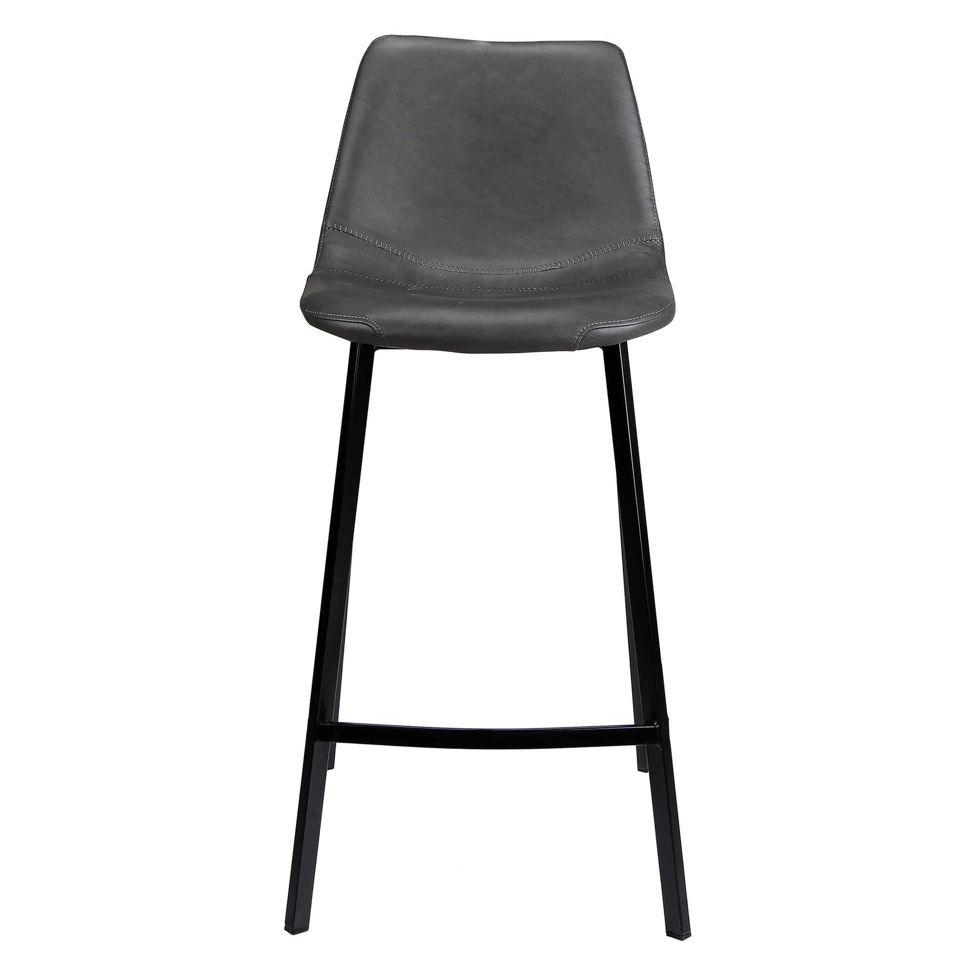 Hugo Faux Leather Counter Stool, Antique Black