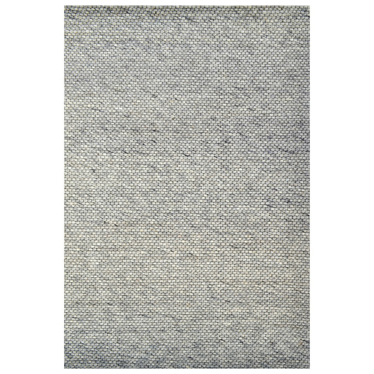 Adelaid Handwoven Wool Rug, 110x160cm, Silver
