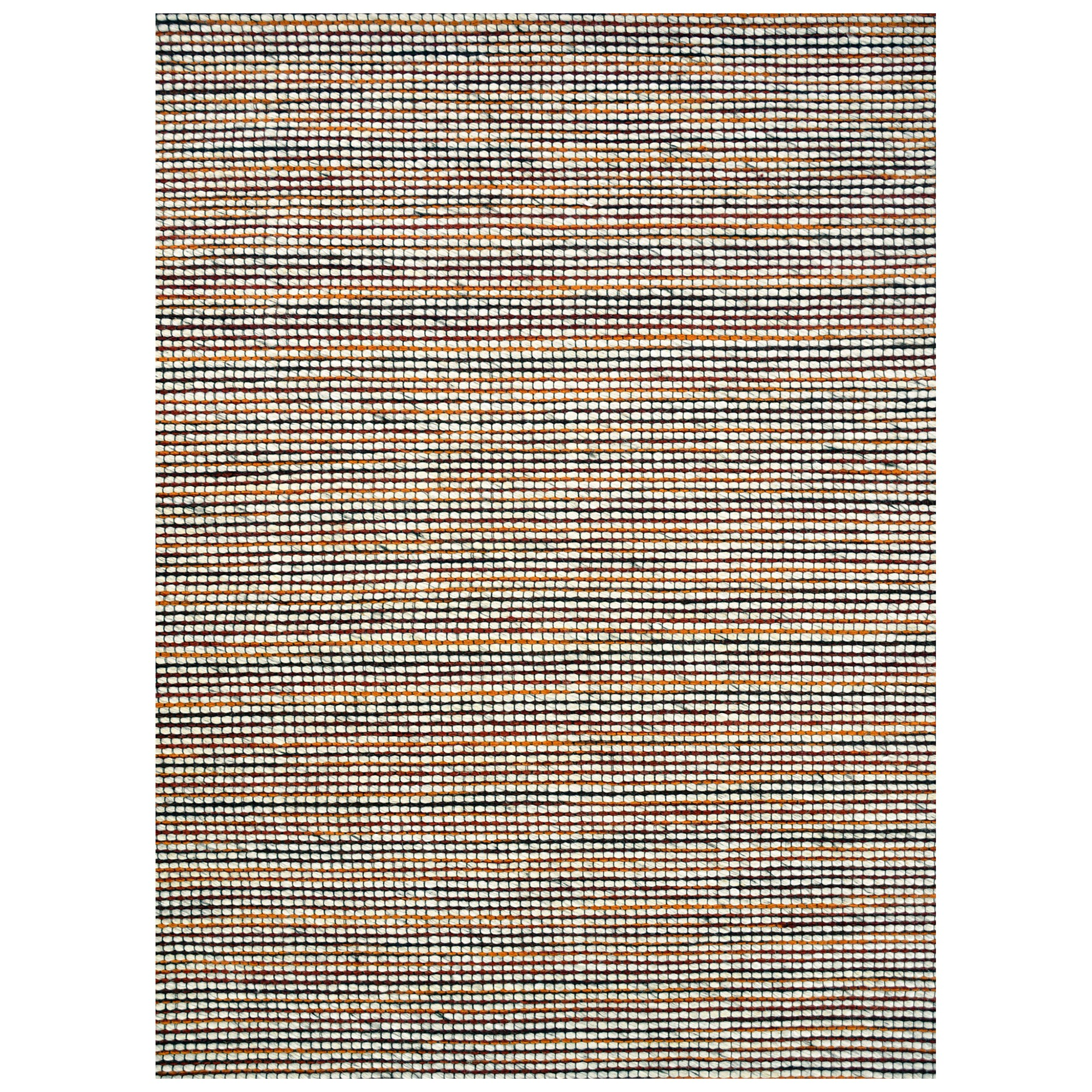 Burlin Handmade Wool Rug, 90x60cm, Ivory / Red
