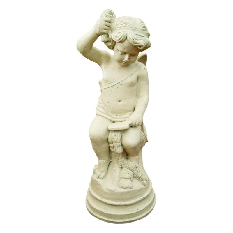 Juliet Cast Iron Garden Statue, Antique White