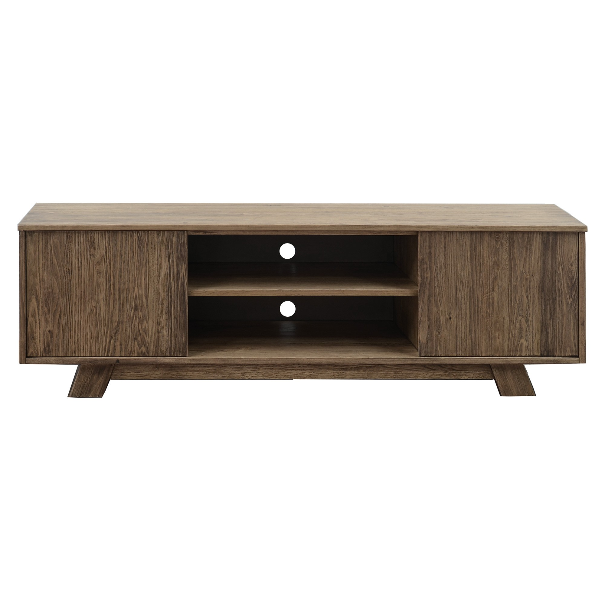 Harold Mountain Ash Timber 2 Door TV Unit, 180cm, Smoke