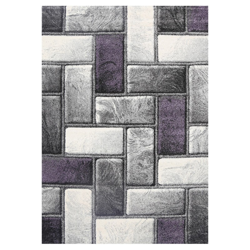 Ivy Bricks I Textured Modern Rug, 80x150cm