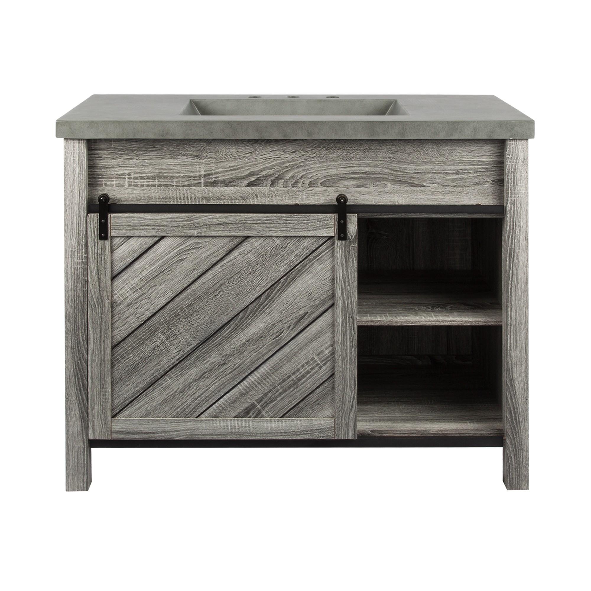 Lennox Bathroom Vanity Cabinet with Basin, 105cm
