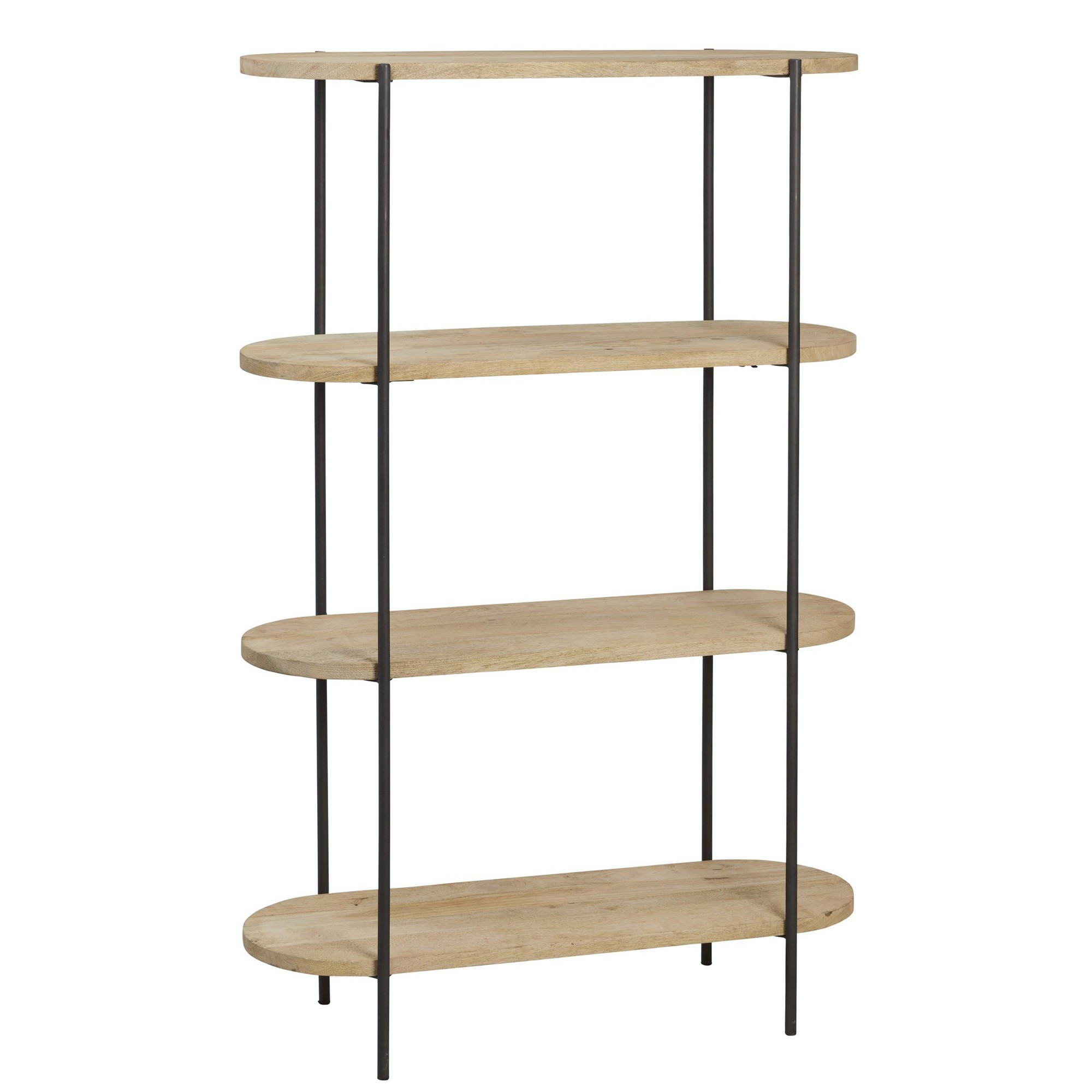 Capsule Mango Wood & Metal Display Shelf, 4 Tier