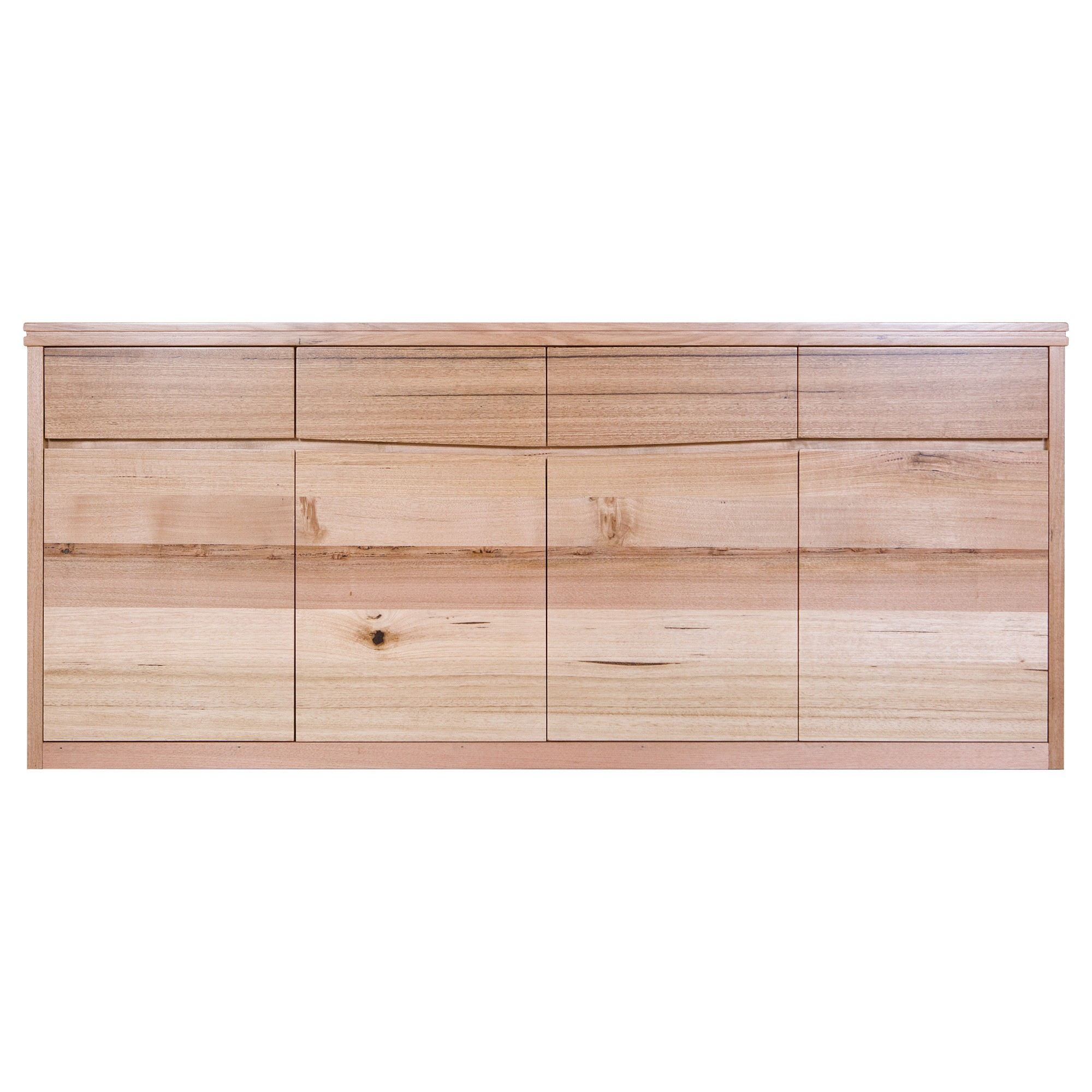 Irsia Tasmanian Oak Timber 4Door 4 Drawer Buffet Table, 200cm