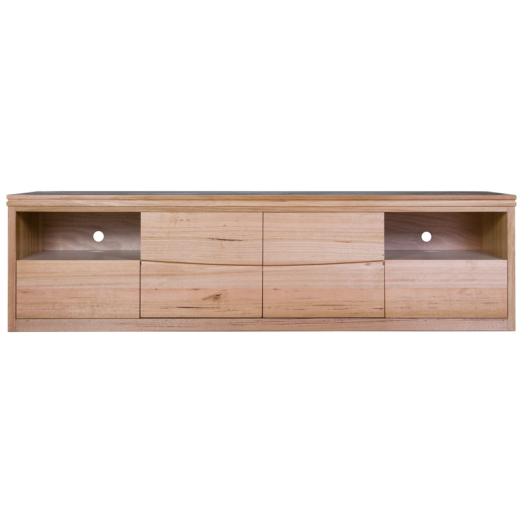 Irsia Tasmanian Oak Timber 2Door 2 Drawer TV Unit, 200cm