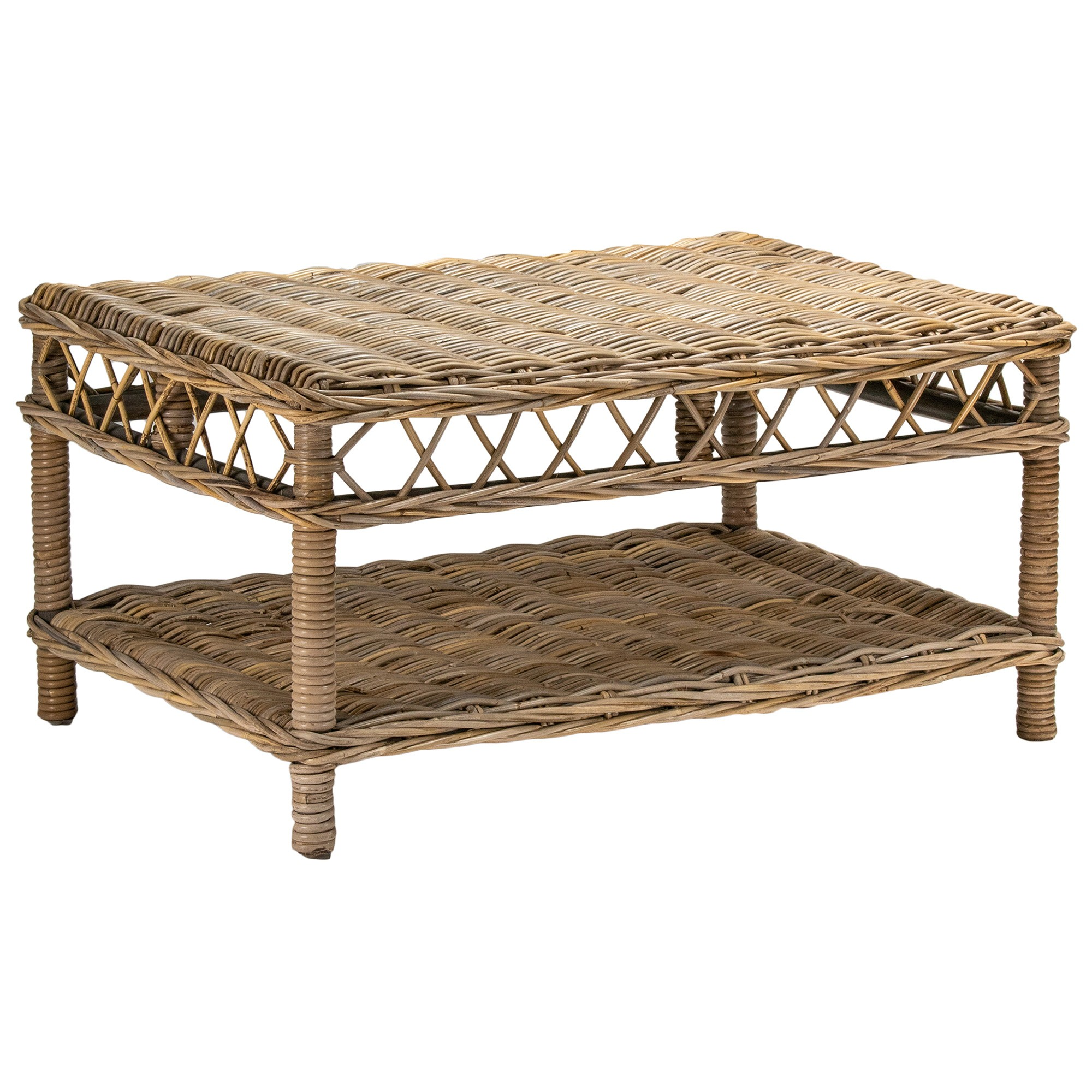 Nassau Rattan Coffee Table, Natural