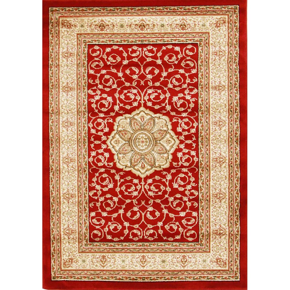 Istanbul Medallion Turkish Made Oriental Rug, 170x120cm, Red
