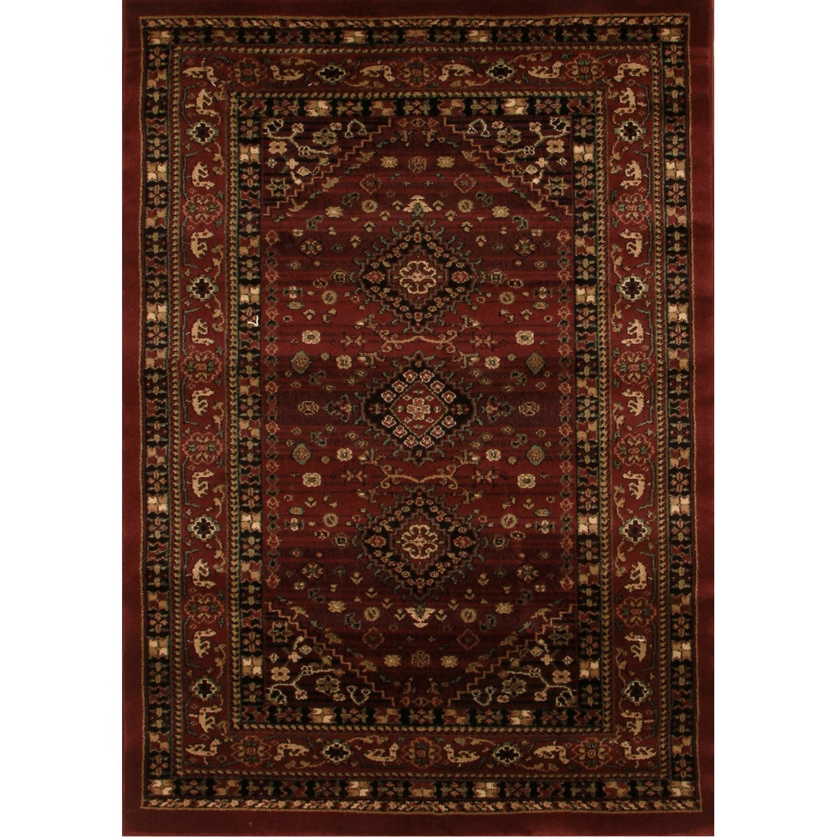 Istanbul Shiraz Turkish Made Oriental Rug, 170x120cm, Burgundy