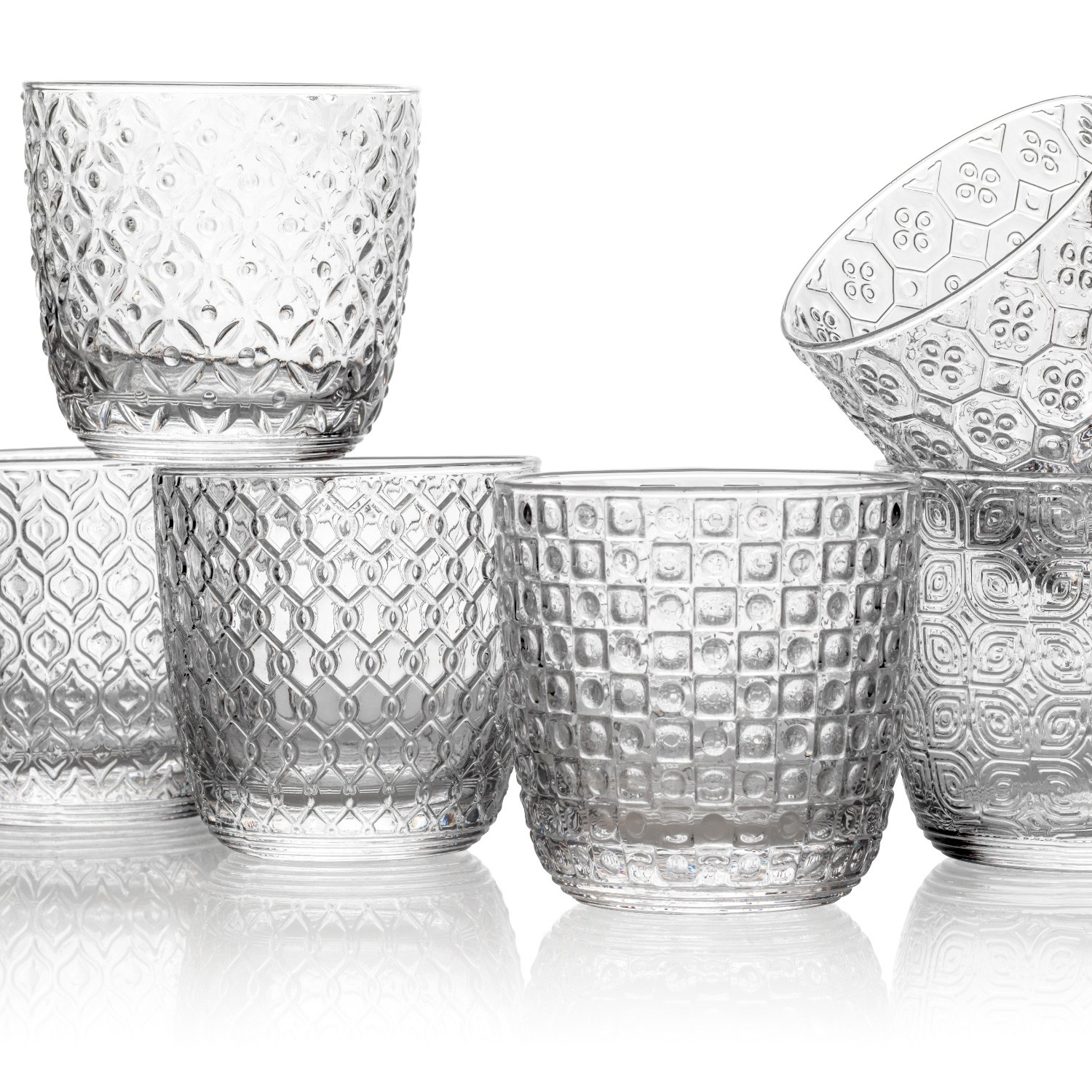 IVV Sixties 6 Piece Glass Tumbler Set, Clear