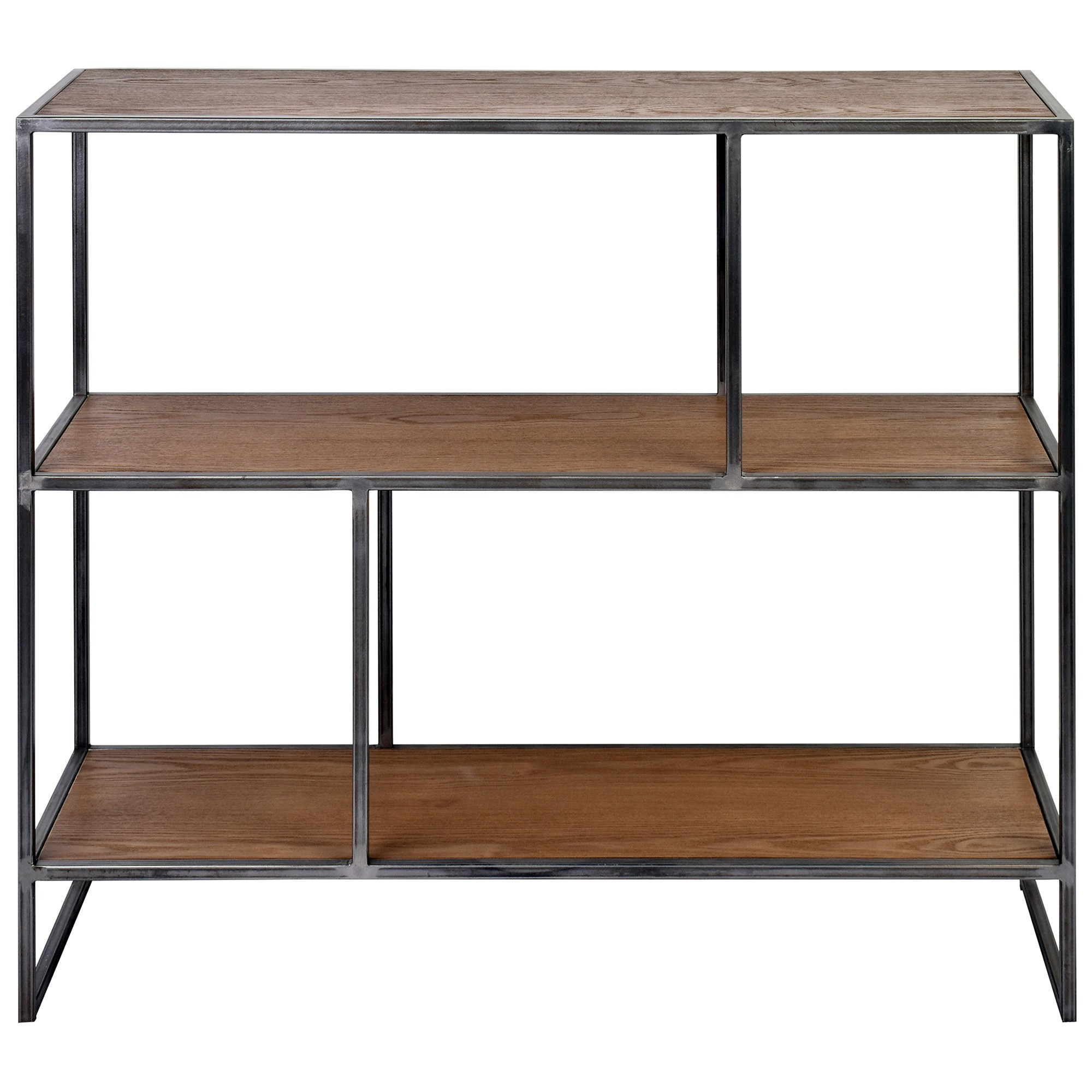 Dyne Ashwood & Iron Display Shelf, 100x86cm