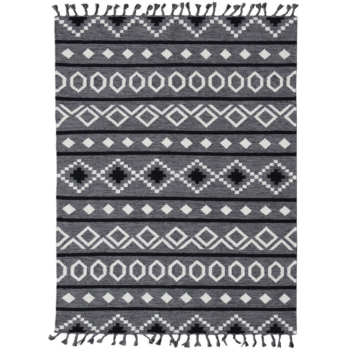 Artifact Handwoven Wool Rug , 190x280cm, Grey