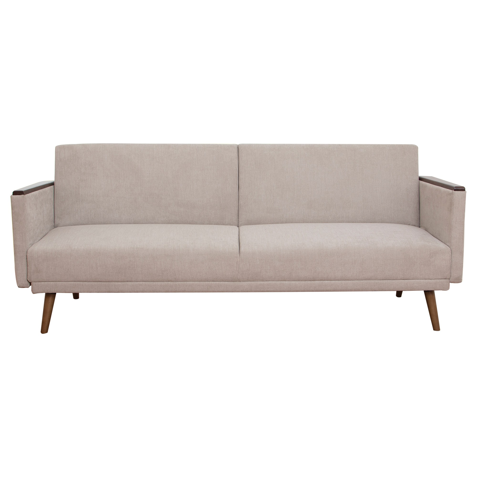 Jasper Ezy Action Fabric Futon Sofa Bed, Latte