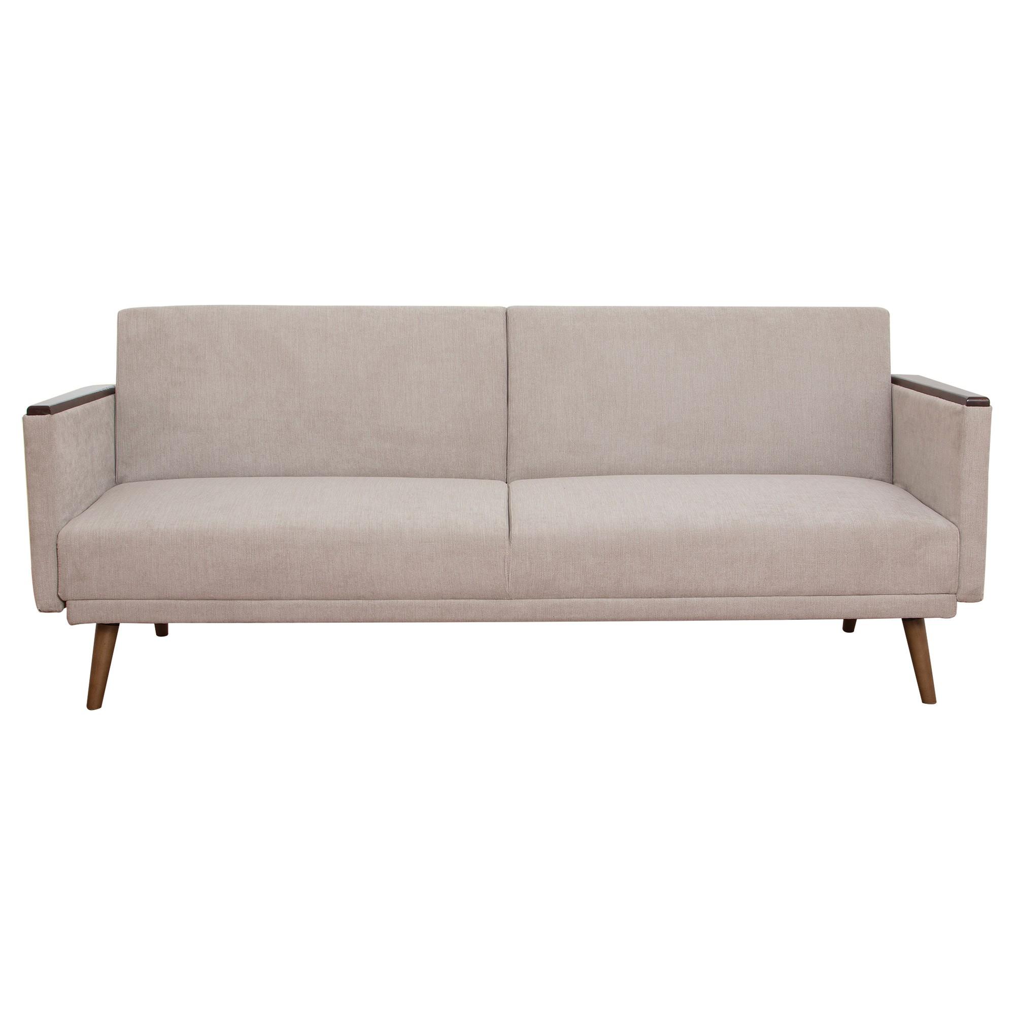 Jasper Ezy Action Fabric Futon Sofa Bed, Latte