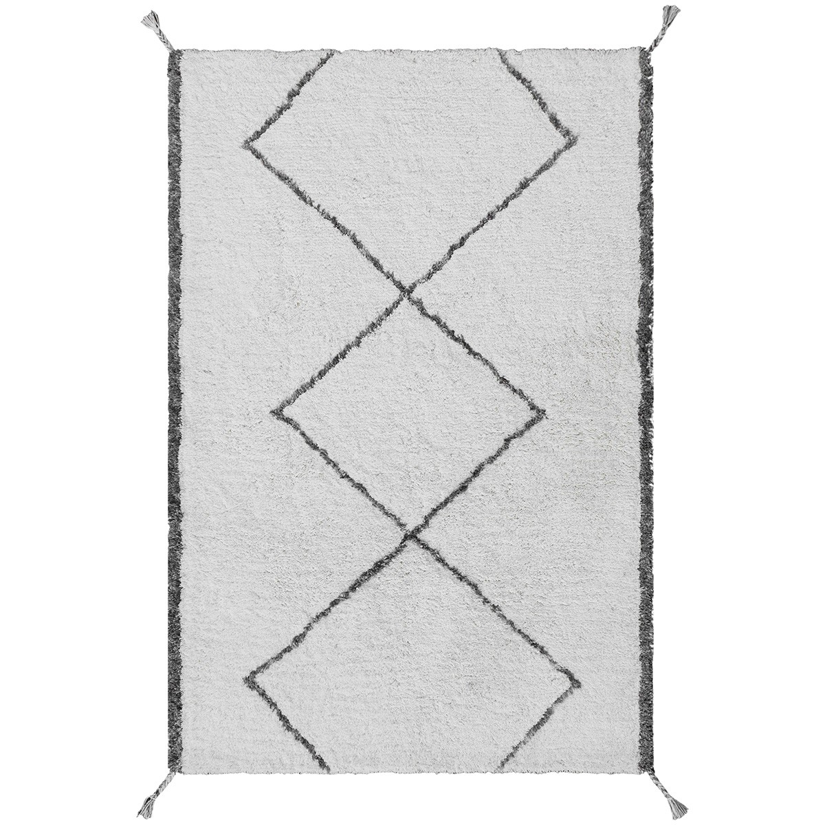 Safeyaa Tufted Shaggy Wool Rug, 230x160cm