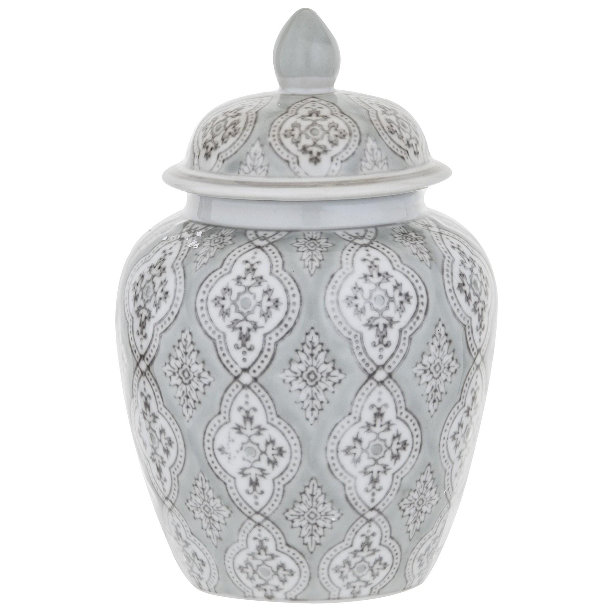 Allette Hand Painted Ceramic Ginger Jar