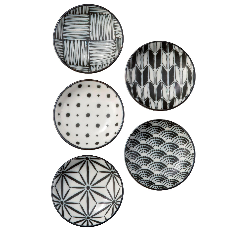 Komon 5 Piece Porcelain Dipping Dish Set